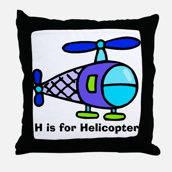 H is for Helicopter! Throw Pillow