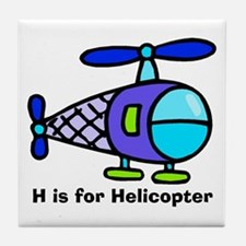 H is for Helicopter! Tile Coaster