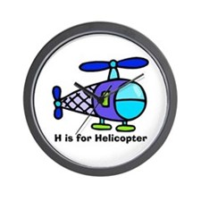 H is for Helicopter! Wall Clock