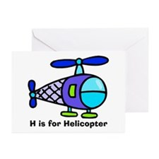 H is for Helicopter! Greeting Cards (Pk of 10)