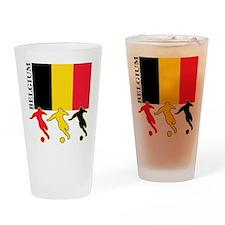 Belgium Soccer Pint Glass