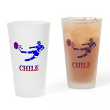Chile Soccer Player Pint Glass