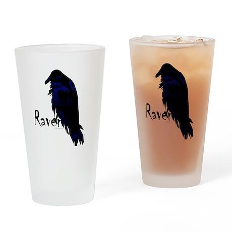Raven on Raven Pint Glass