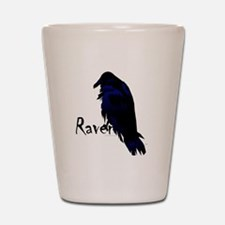 Raven on Raven Shot Glass