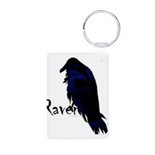 Raven on Raven Aluminum Photo Keychain