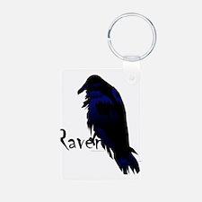 Raven on Raven Aluminum Photo Keychain