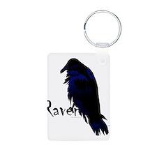 Raven on Raven Keychains