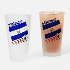 El Salvador Soccer Team Pint Glass