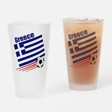 Greece Soccer Team Pint Glass