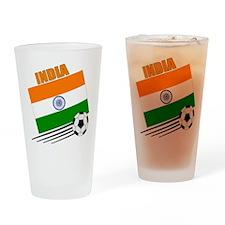 India Soccer Team Pint Glass