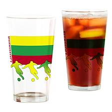 Lithuania Soccer Pint Glass
