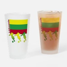 Lithuania Soccer Pint Glass