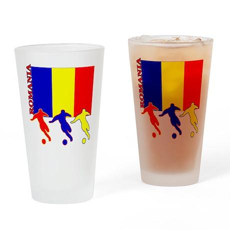 Romania Soccer Pint Glass