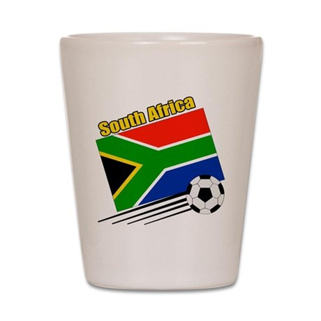 South Africa Soccer Team Shot Glass