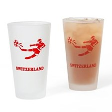 Swiss Soccer Player Pint Glass