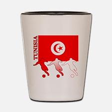 Tunisia Soccer Shot Glass