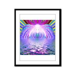 Psychedelic Sunrise Framed Panel Print
