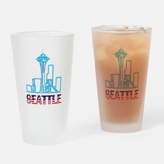 Seattle Space Needle Pint Glass