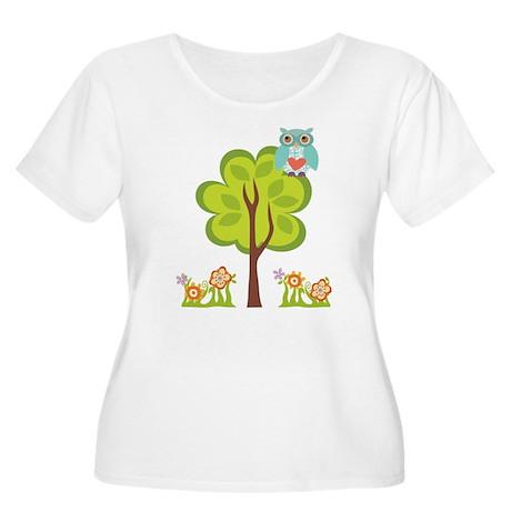 Owl Fun Women's Plus Size Scoop Neck T-Shirt
