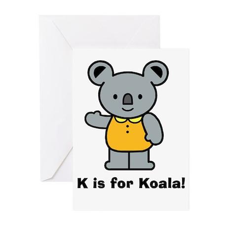 K is for Koala! Greeting Cards (Pk of 10)