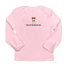 Skull and Bow Long Sleeve Infant T-Shirt