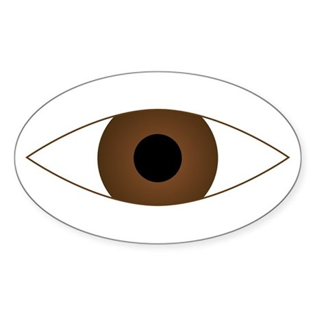 Big Open Eye Symbol Sticker (Oval)