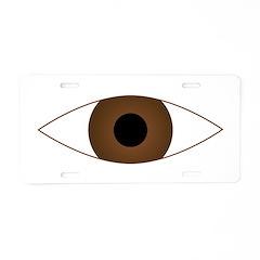 Big Open Eye Symbol Aluminum License Plate