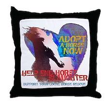 Adopt a Horse Throw Pillow