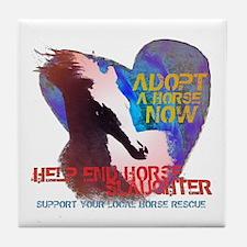 Adopt a Horse Tile Coaster