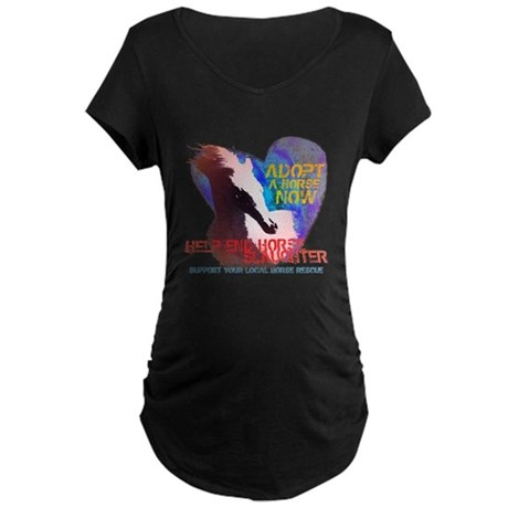 Adopt a Horse Maternity Dark T-Shirt