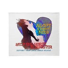 Adopt a Horse Throw Blanket