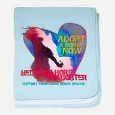 Adopt a Horse baby blanket