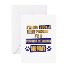 Scottish Deerhound Mommy Greeting Card