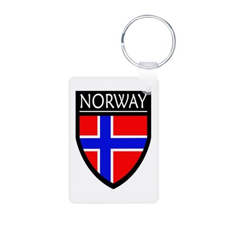 Norway Flag Patch Aluminum Photo Keychain