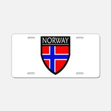 Norway Flag Patch Aluminum License Plate