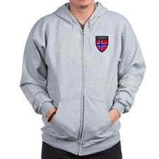Norway Flag Patch Zip Hoodie