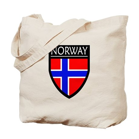 Norway Flag Patch Tote Bag