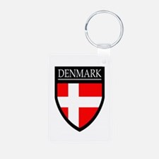 Denmark Flag Patch Keychains