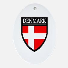 Denmark Flag Patch Ornament (Oval)
