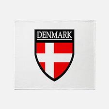 Denmark Flag Patch Throw Blanket