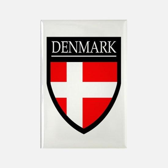 Denmark Flag Patch Rectangle Magnet (10 pack)