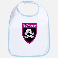 Pirate Fuscia Patch Bib