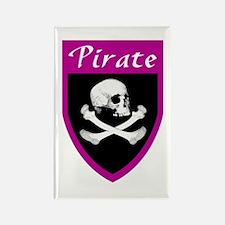 Pirate Fuscia Patch Rectangle Magnet