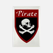 Pirate Red Patch Rectangle Magnet