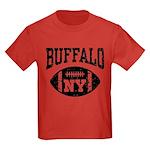 Buffalo NY Football Kids Dark T-Shirt