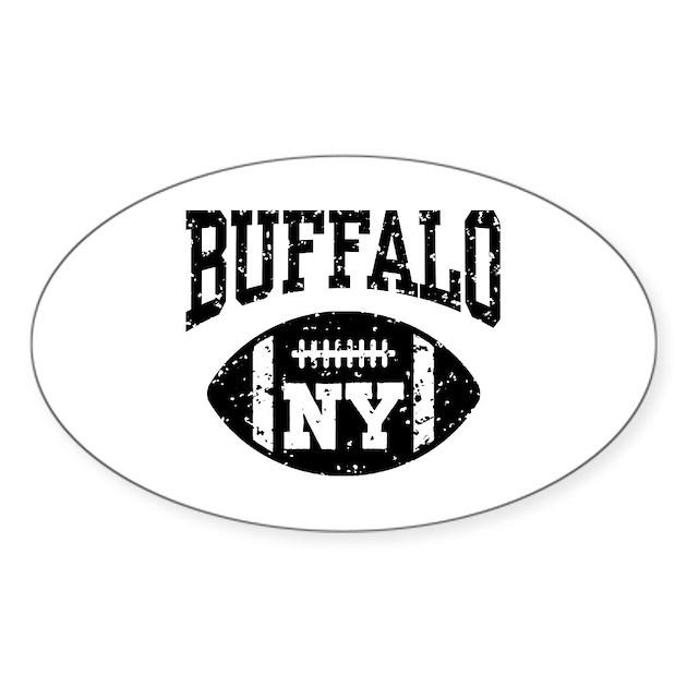 Buffalo NY Football Sticker (Oval) By Teesorama