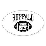 Buffalo NY Football Sticker (Oval)