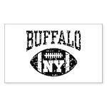 Buffalo NY Football Sticker (Rectangle)