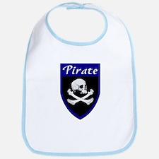 Pirate Blue Patch Bib