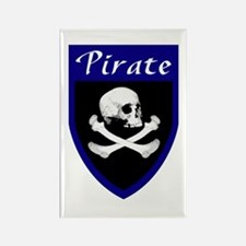 Pirate Blue Patch Rectangle Magnet